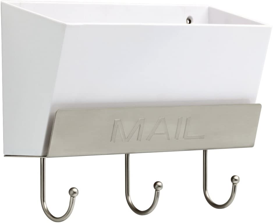 """LIBERTY MAILHLD-WSN-R Classic Mail Holder with 3 Hooks, 10"""""""