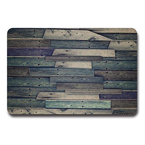 Cheap  ZBLX Rustic Antique Wooden Board Doormat-Indoor Kitchen Decor Rug Mat Rubber Non..