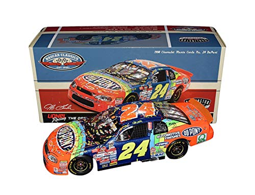 AUTOGRAPHED 1998 Jeff Gordon #24 DuPont Rainbow DARLINGTON WINNER (Raced Version) NASCAR Classic Series Win Signed Collectible Lionel 1/24 Scale NASCAR Diecast Car with COA (#049 of only 601 produced)
