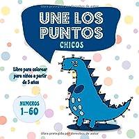 Une los puntos - Chicos: Libro para colorear para niños a partir de 5 años (Unir puntos para niños)