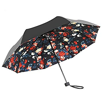 0a3e5c9458a6 Amazon|IKASA 日傘 晴雨兼用 完全遮光 UVカット( UVカット率 約99 ...