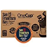 San Francisco Bay OneCup Espresso Roast (36 Count) Single Serve Coffee Compatible with Keurig K-cup Brewers Single Serve Coffee Pods, Compatible with Cuisinart, Bunn, iCoffee single serve brewers Review