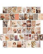 50 stks Muur Photo Collage Kit 4x6 inch Warm Clour Muur Esthetische Foto, Muur Art Prints voor Meisjes Kamer VSCO Posters Dorm Foto Display, Warm Room Decor