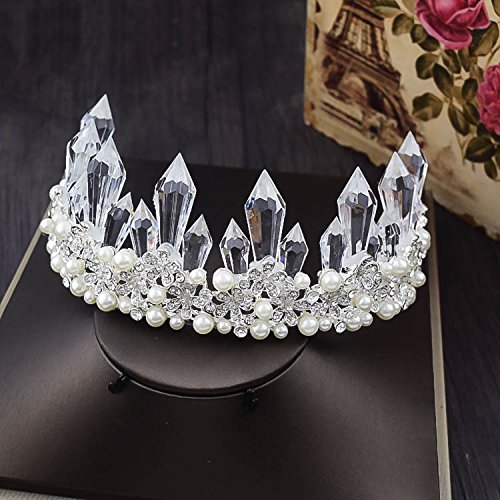 Quantity 1x bride luxury crystal _ice- crystal - Rhinestone ing Headband pearl Crown Tiara Party Wedding Headband Women Bridal Princess Birthday Girl Gift Headdress jewelry _.