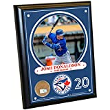 Steiner Sports MLB Toronto Blue Jays Josh Donaldson Plaque with Game Used Dirt from Rogers Centre, 8-Inch x 10-Inch, Navy