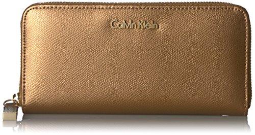 Calvin Klein Key Item Monogram Wallet Wallet, TXTRD KHK/BK/BK SAFFIANO, One Size
