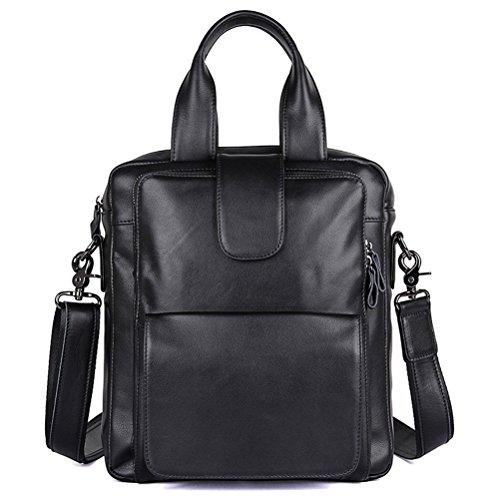 Leather Briefcase Business Men Working Paper Bag Laptop Shoulder Bag Leather Messenger Satchel Bandoliers Notebook