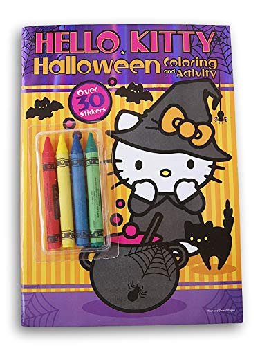 Hello Kitty Coloring Pages Halloween (Activity Books Hello Kitty Halloween Coloring with Crayons and)