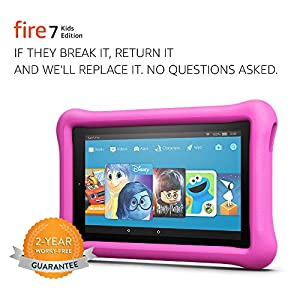 Fire 7 Kids Edition Tablet, 7″ Display, 16 GB, Pink Kid-Proof Case – (Previous Generation – 7th)