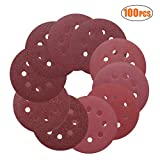 Sanding Discs,TACKLIFE 5-Inch 8-Hole 100pcs Hook and Loop Sandpaper, 40/60/80/100/150/180/240/320/400/800 Grits Sandpaper for Random Orbit Sander | ASD1A