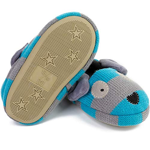 FEETCITY Toddler Boys' Doggy Slipper Cartoon Puppy Crochet Shoes Size 7.5-8 by FEETCITY (Image #3)