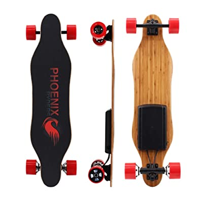 Alouette Phoenix Ryders Electric Skateboard Dual Motors 16 MPH 5.2 AH Lithium Battery Upgraded Electric Longboard with LCD Screen Remote : Sports & Outdoors