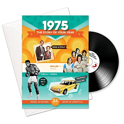 Price comparison product image 1975 Birthday or Anniversary Gifts - 1975 4-In-1 Card and Gift - Story of Your Year ,  CD ,  Music Download