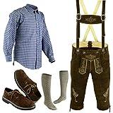 Bavarian Oktoberfest Trachten Lederhosen Bundhosen Costumes Brown (44)
