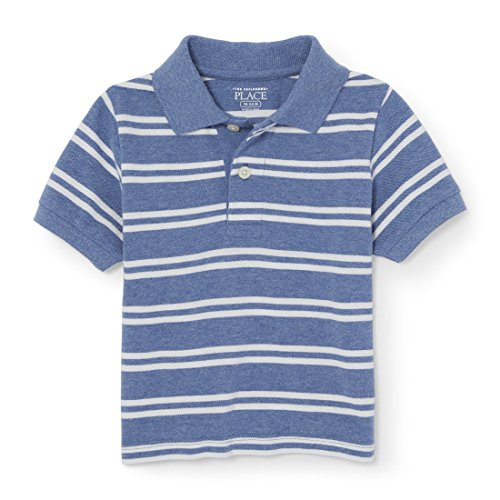 The Childrens Place Baby Boys Short Sleeve Mini Stripe Polo