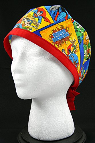 - Superhero Comics Scrub/Surgical Hat (Handmade in the United States)