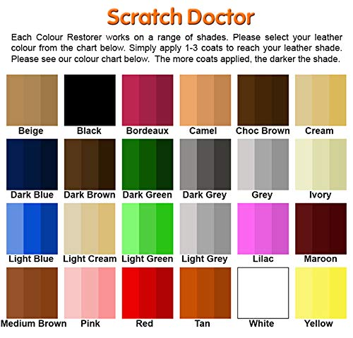 the scratch doctor dark brown leather colour restorer for faded and rh amazon co uk Leather Dye Spray Leather Dye Colors for Furniture