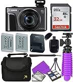 : Canon Black PowerShot SX720 + 32GB SD + Accessory Bundle