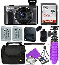 Canon Black PowerShot SX720 + 32GB SD + Accessory Bundle