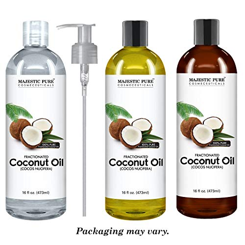 Majestic Pure Fractionated Coconut Oil For Aromatherapy Relaxing Massage Carrier Oil for Diluting
