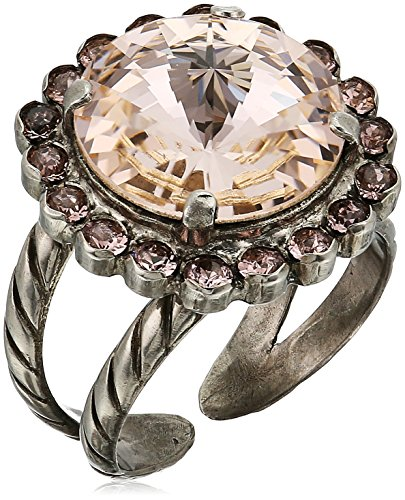 - Sorrelli Satin Blush Haute Halo Adjustable Ring