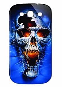 Case Fun Samsung Galaxy S3 (I9300) Case - Vogue Version - 3D Full Wrap - Horrid Skull