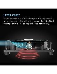 AC infinity multifan S2, Quiet 120 mm USB soplador ventilador de refrigeración con control de velocidad, para receptor DVR Xbox módem AV Gabinete