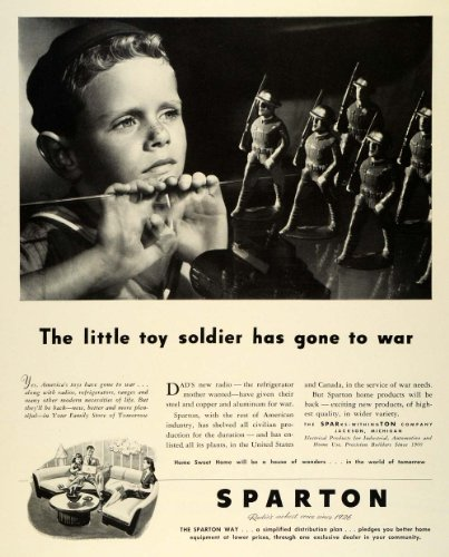1942 Ad Sparton Appliance Dealer World War II Electrical Products Household WWII - Original Print Ad