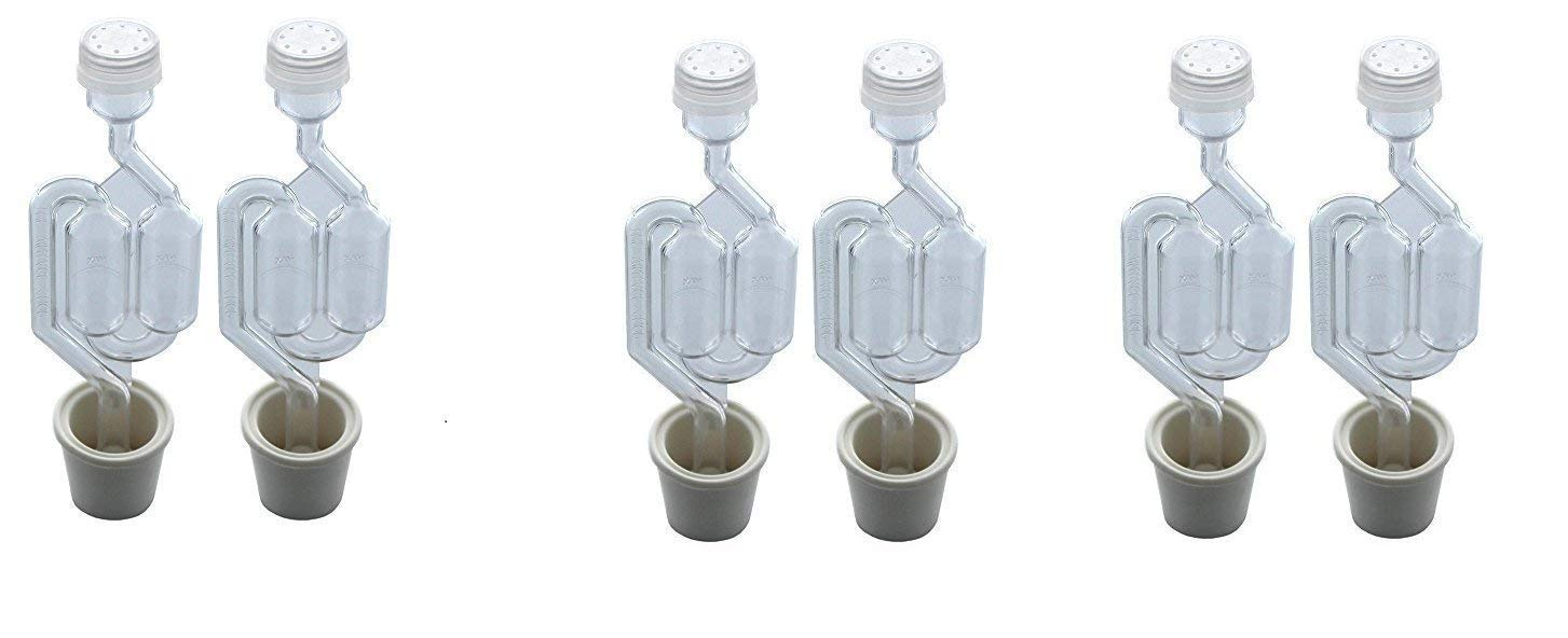 Twin Bubble Airlock and Carboy Bung (Pack of 2) (6 units)