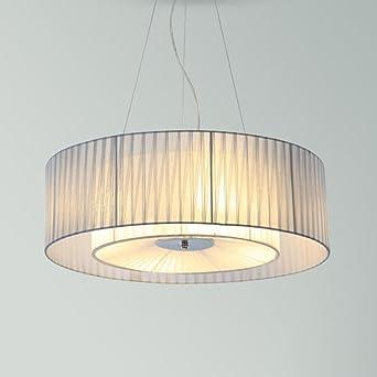 Leuchter Stoff Lampenschirm LED Kronleuchter Beleuchtung ...
