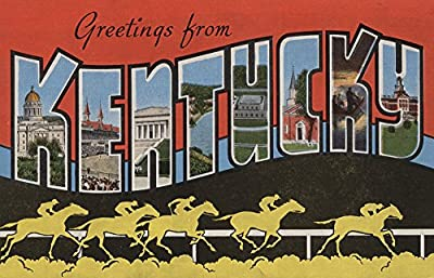 Greetings from Kentucky (Horse Race Scene)