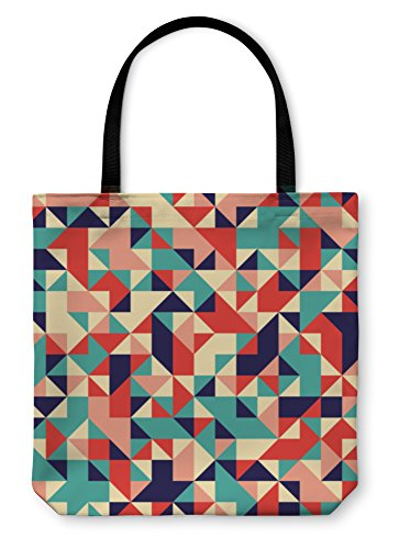 Gear New Shoulder Tote Hand Bag, Geometric Pattern, 18x18, - Frame Sample Bags Optical