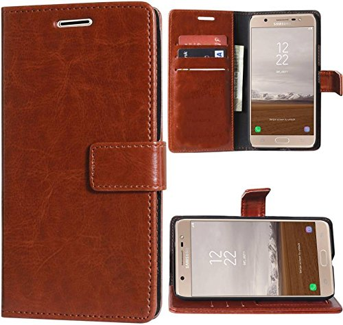 huge selection of d2622 56173 Erotic Luxury Mercury Magnetic Lock Diary Wallet Style Flip Cover for  Samsung Galaxy J7 (Cherry)