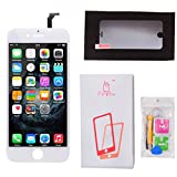 Firefix LCD Touch Screen Digitizer Replacement Frame Assembly Full Set for iPhone 6 (4.7-Inch) - White