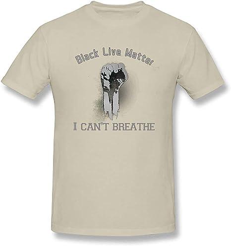 LJJ No Puedo Respirar Camiseta Negra Vidas Materia de Manga ...