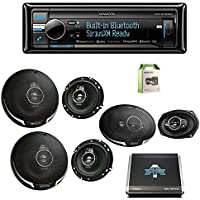 Kenwood KDCBT858U CD Player BT USB Receiver w/Kenwood KFC1695PS 6.5 3-way 320W Car SPKR (2-Pairs), Kenwood KFC6995PS 6X9 5-Way SPKR 650W (Pair), Autotek 1000W 4 Chan Amp & Enrock 18G 50 SPKR Wire