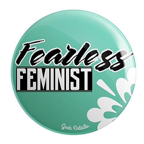 Pinback Pin Button Political - Geek Details Fearless Feminist 2.25