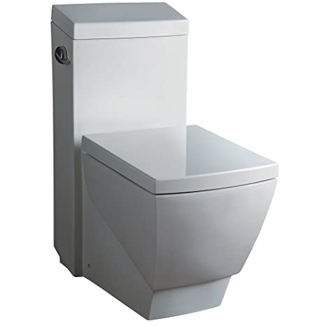 Tremendous Fresca Bath Ftl2336 Apus 1 Piece Square Toilet With Soft Close Seat Andrewgaddart Wooden Chair Designs For Living Room Andrewgaddartcom