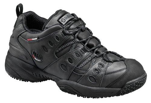 (Skidbuster Footwear Men's 5052 Waterproof Action Leather Super Slip Resistant Black 7 D)