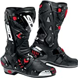 SIDI VORTICE AIR BLACK/BLACK MOTORCYCLE SPORTS BOOTS + FREE SOCKS new EC 42