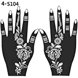 2 Pcs Henna Stencil Temporary Hand Tattoo Body Arts Sticker Template Tools