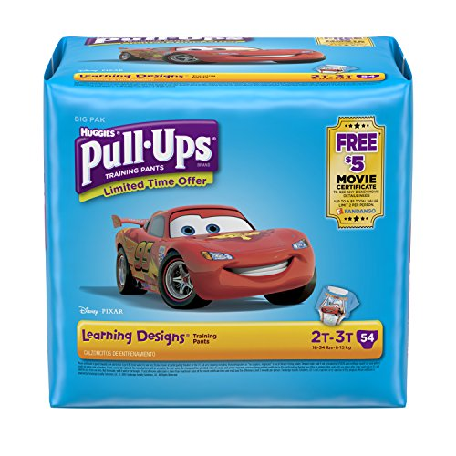 Pull-Ups Learning Designs Training Pants for Boys, 2T-3T, 54 Count