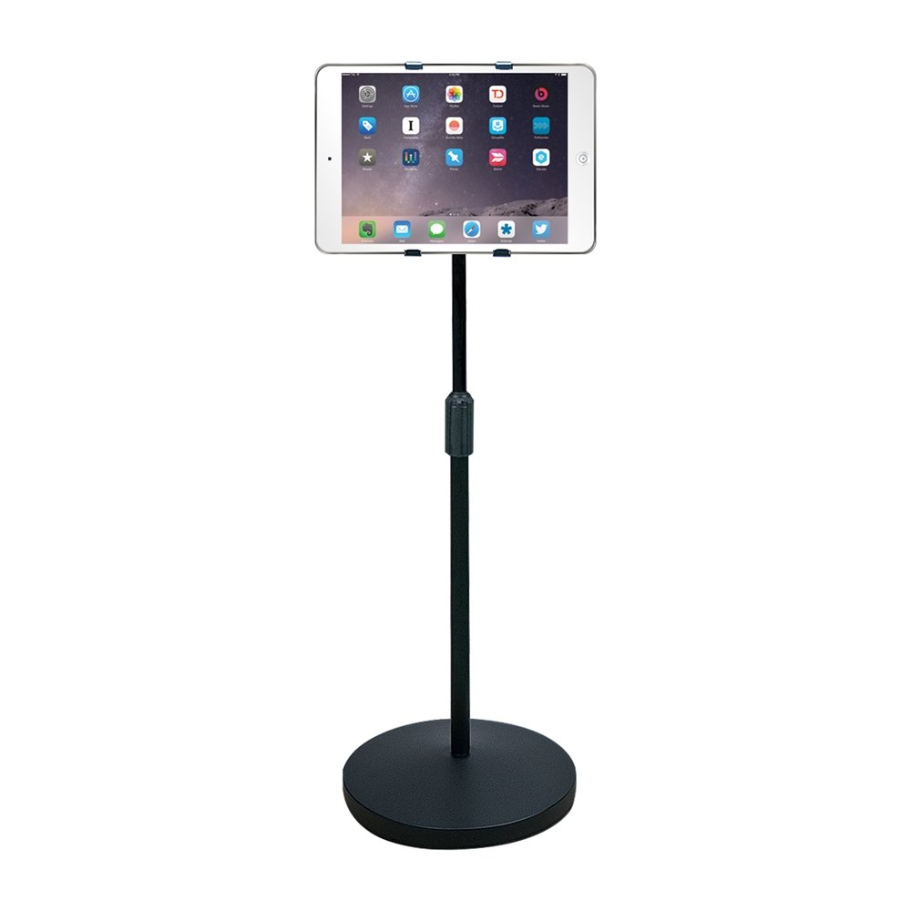 Hamilton Buhl iPad/Tablet Universal Mount Floor Stand, Height Adjustable from 37.6'' to 56.5''