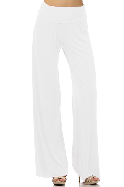 DBG Women's Women's Organic Cotton Palazzo Wide Legged Pants 1xl