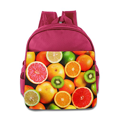 Price comparison product image Colorful Fruits Backpack Boys Girls School Bag Pink