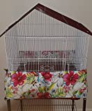 Penn Seed Seed Guard and Catcher Bird Cage Skirt - Lovely Watercolor (Extra Small (32''-64'' Cage Circumference))