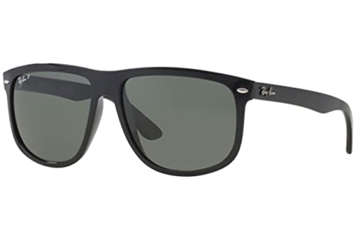 3dff2a5f9e ... closeout ray ban mens rb4147 black frame green polarized lens plastic  sunglasses c3949 fe727