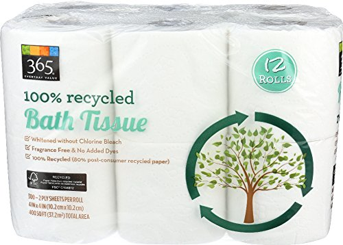(365 Everyday Value, 100% Recycled Bath Tissue, 12 Count)