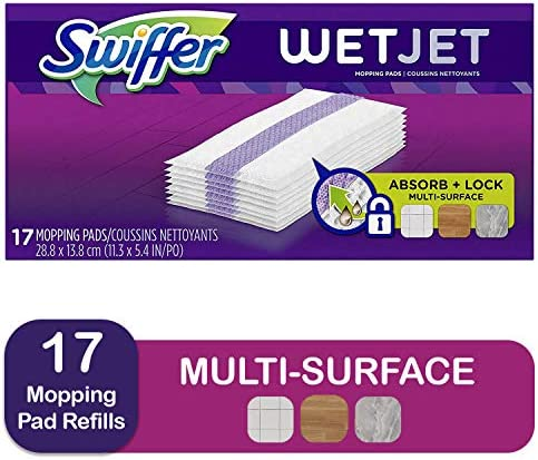 picture of Swiffer Wetjet Hardwood Mop Pad Refills for Floor Mopping and