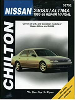Nissan altima 1993 2001 haynes automotive repair manual chilton nissan 240sx altima 1993 98 chiltons total car care repair manual fandeluxe Images